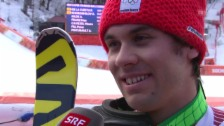 Video «Ski: Super-Kombination, Siegerinterview Viletta (sotschi direkt, 14.02.14)» abspielen