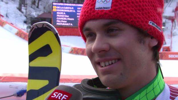 Video «Ski: Super-Kombination, Siegerinterview Viletta (sotschi direkt, 14.02.14)» abspielen
