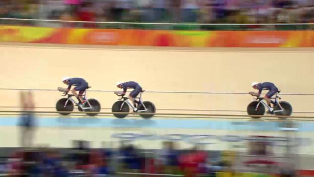 Video «Grossbritannien mit Weltrekord zu Gold» abspielen