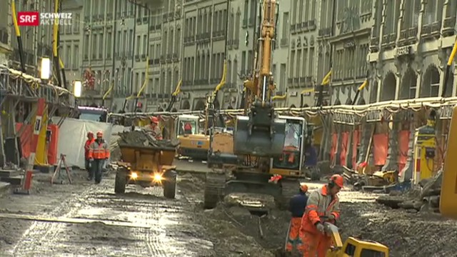 Berner Ladenbesitzer ärgern sich über Sanierung der Marktgasse