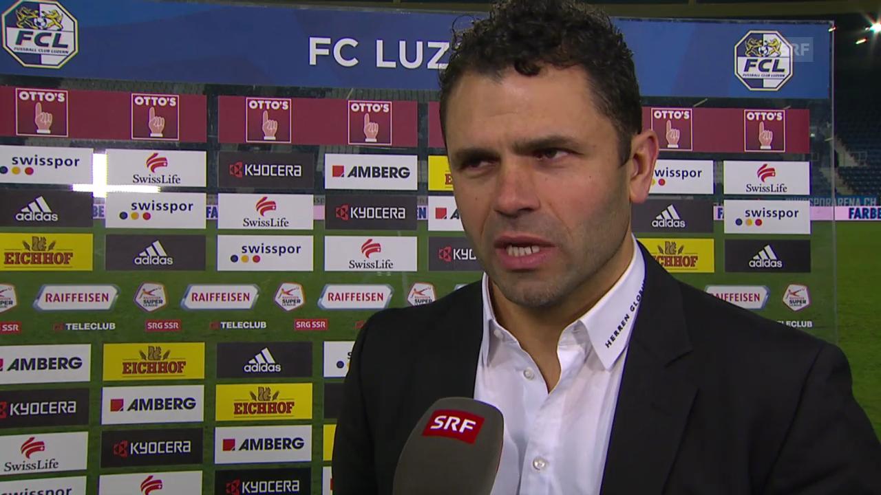 Fussball: Luzern - YB, Interview mit Uli Forte