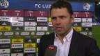 Video «Fussball: Luzern - YB, Interview mit Uli Forte» abspielen