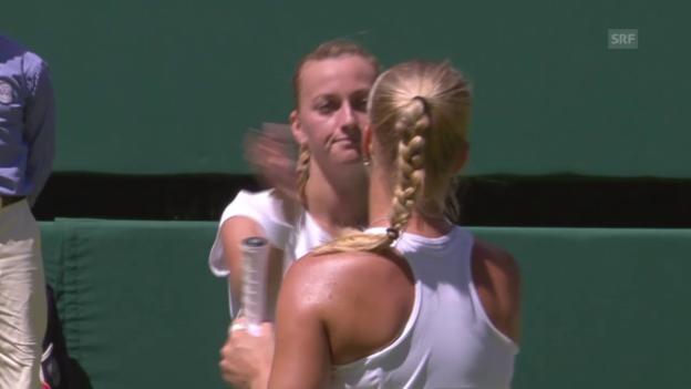 Video «Tennis: Wimbledon, Kvitova-Bertens» abspielen