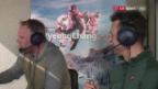 Video «Wenn eine Snowboarderin die SRF-Ski-Moderatoren vom Sessel haut» abspielen