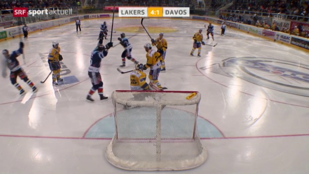 Video «Eishockey: NLA, Lakers - Davos («sportaktuell»)» abspielen