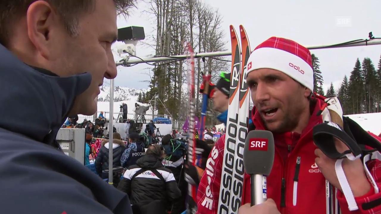Sotschi: Langlauf, Skiathlon, Interview mit Perl