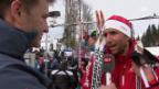 Video «Sotschi: Langlauf, Skiathlon, Interview mit Perl» abspielen