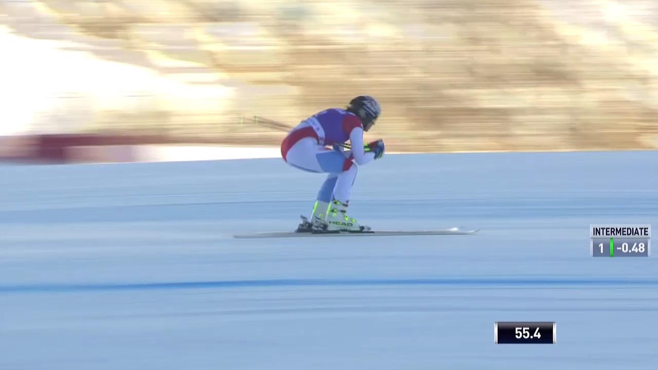Ski Alpin: Abfahrt Frauen Val d'Isère, Fahrt von Kaufmann-Abderhalden in Val d'Isère («sportlive», 21.12.2013)