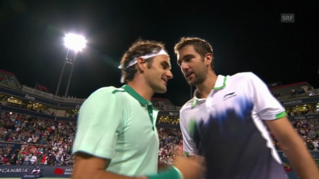 Video «Tennis: ATP Toronto, Highlights Federer - Cilic» abspielen