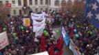 Video «Grosser Aufmarsch gegen Aargauer Sparpläne» abspielen