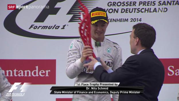 Video «F1: Zusammenfassung GP Deutschland» abspielen