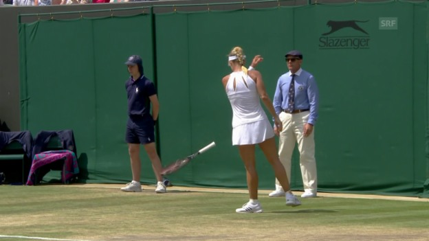 Video «Kerber scheidet in Wimbledon aus» abspielen