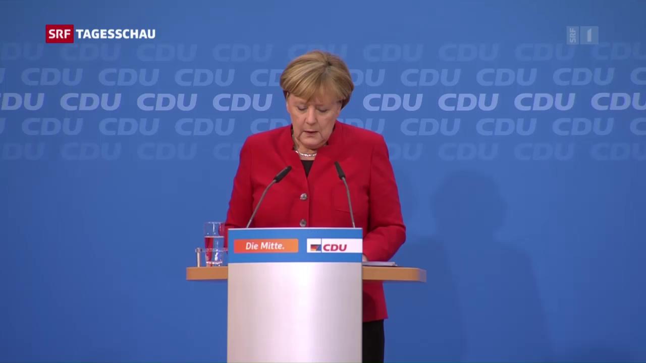 Merkel tritt für vierte Amtszeit als Kanzlerin an