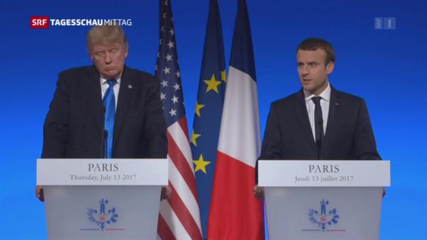 Video «Trump zu Besuch bei Macron» abspielen