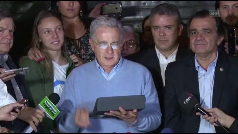 Álvaro Uribe: «Alle wollen Frieden»