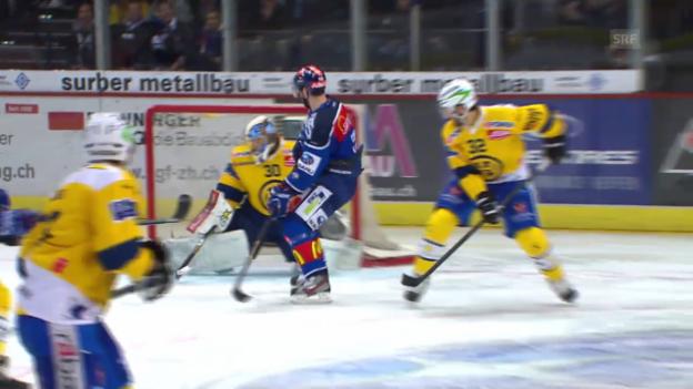 Video «Eishockey: Spiel 3 ZSC-Davos, Paraden Genoni» abspielen