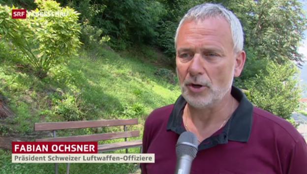 Video «Fabian Ochsner, Präsident der Schweizer Luftwaffen-Offiziere» abspielen