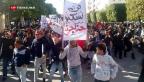 Video «Proteste in Tunesien dauern an» abspielen