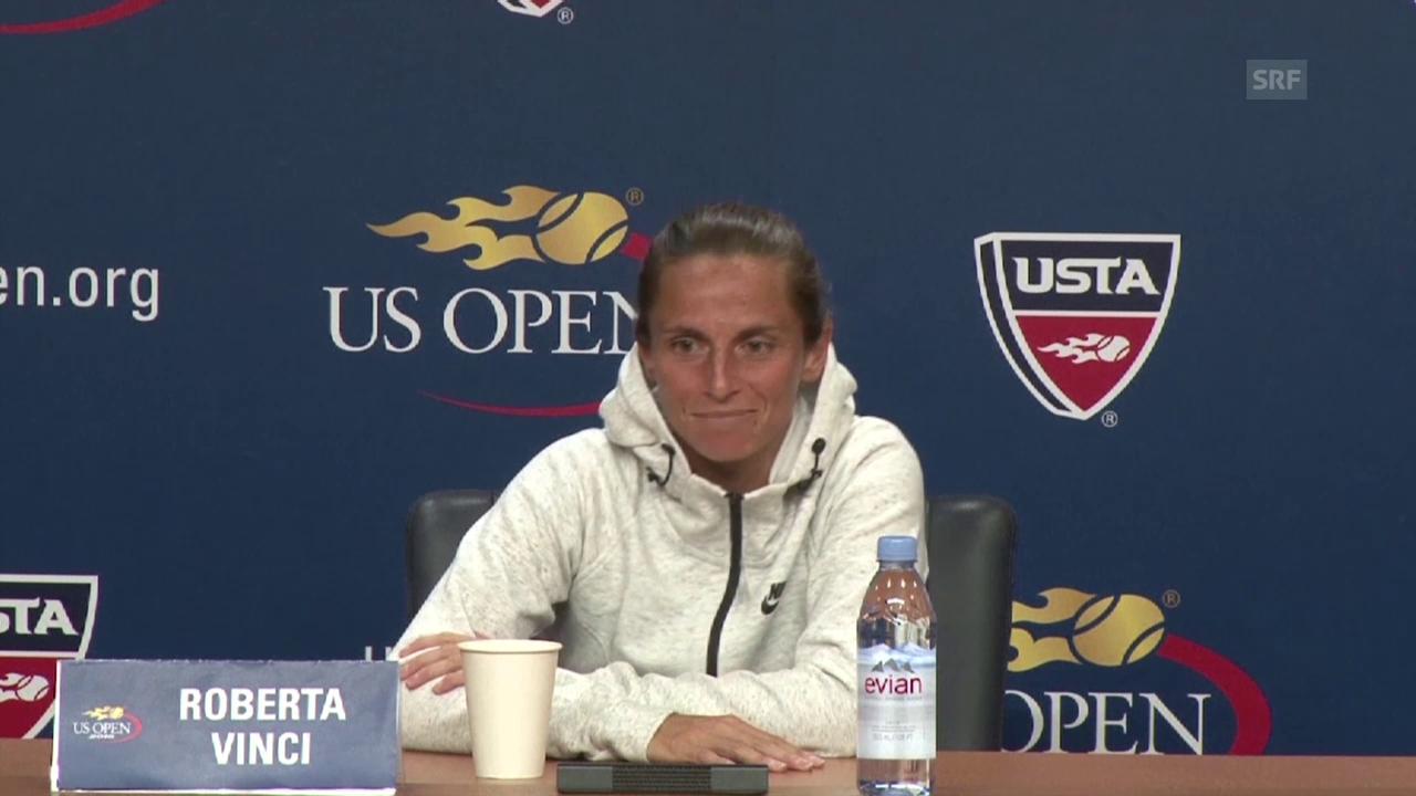 Tennis: US Open, Medienkonferenz mit Roberta Vinci (Englisch)