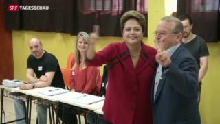 Video «Brasilianer strömen in die Wahllokale» abspielen
