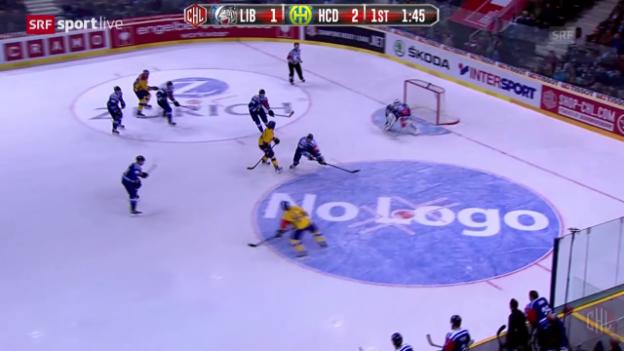Video «Eishockey: CHL, Zusammenfassung Bili Tygri Liberec - Davos» abspielen
