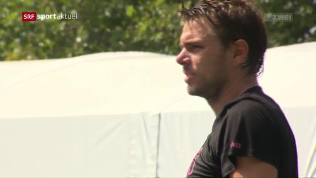 Video «Wawrinka erwartet am US Open ein schwerer 1. Gegner» abspielen