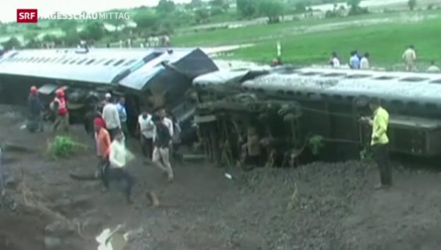 Video «Zugunglück in Indien» abspielen