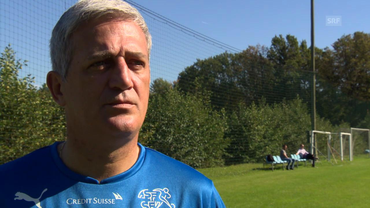 Fussball: EM-Qualifikation, Nati-Training Maribor, Interview Petkovic
