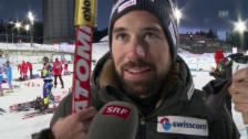 Video «Biathlon: Weltcup Östersund, Interview Benjamin Weger» abspielen