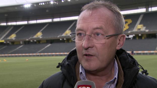 Video «Fussball: YB, Interview Bickel über Steffen» abspielen
