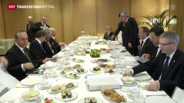 Video «Heftig diskutiertes Flüchtlingsabkommen in Brüssel» abspielen