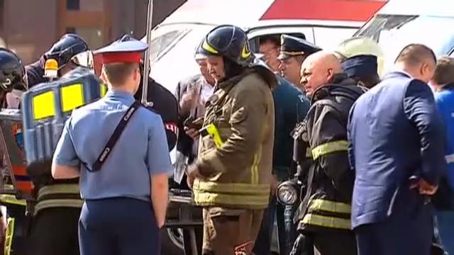 Dramatische Minuten in der Moskauer Metro