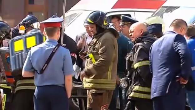 Video «Dramatische Minuten in der Moskauer Metro» abspielen
