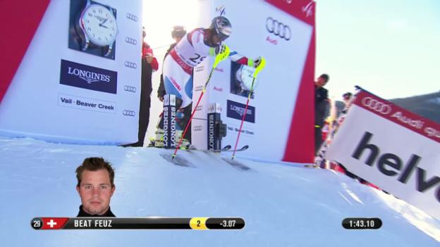 Video «Ski: WM-Super-Kombi Männer, 2. Lauf von Beat Feuz» abspielen