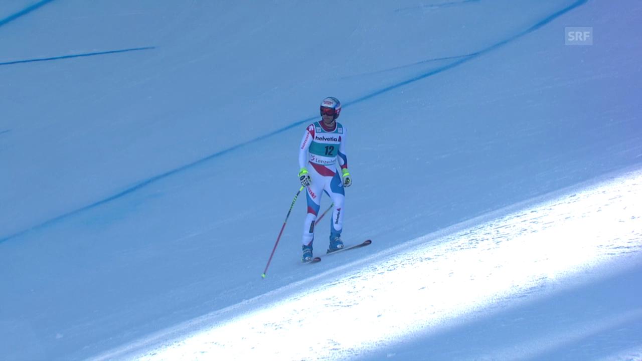 Ski: Weltcup der Männer, Abfahrt auf der Lenzerheide, Der Ausfall von Didier Défago (12.03.2014)