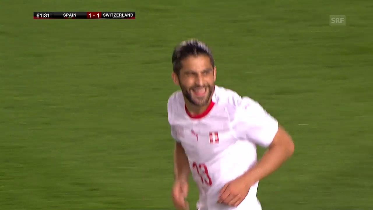 Rodriguez trifft zum 1:1 gegen Spanien