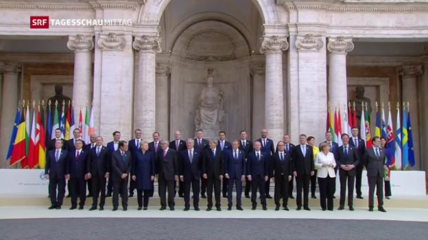 Video «Trotz Demonstrationen – EU bekennt sich zu gemeinsamer Zukunft» abspielen