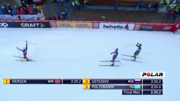 Video «Langlauf: Tour de Ski, Sprint in Oberstdorf, Final Männer» abspielen