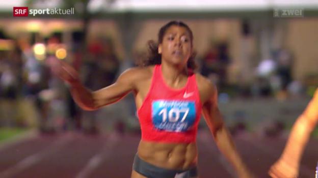 Video «Leichtathletik: SM in Zug, Die Sprints» abspielen
