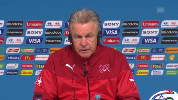 Video «Schweiz - Argentinien: Hitzfelds Fazit der Gruppenphase» abspielen