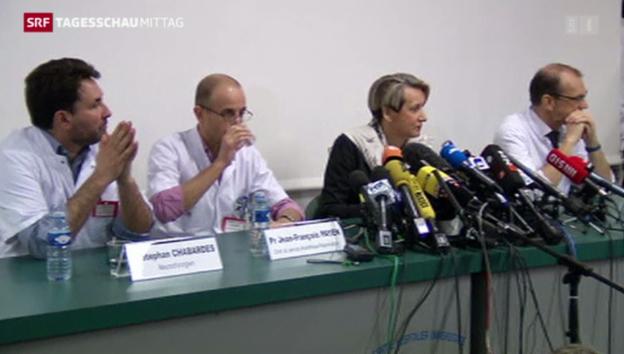 Video «Ärzte von Schumacher: «Leichte Verbesserung»» abspielen