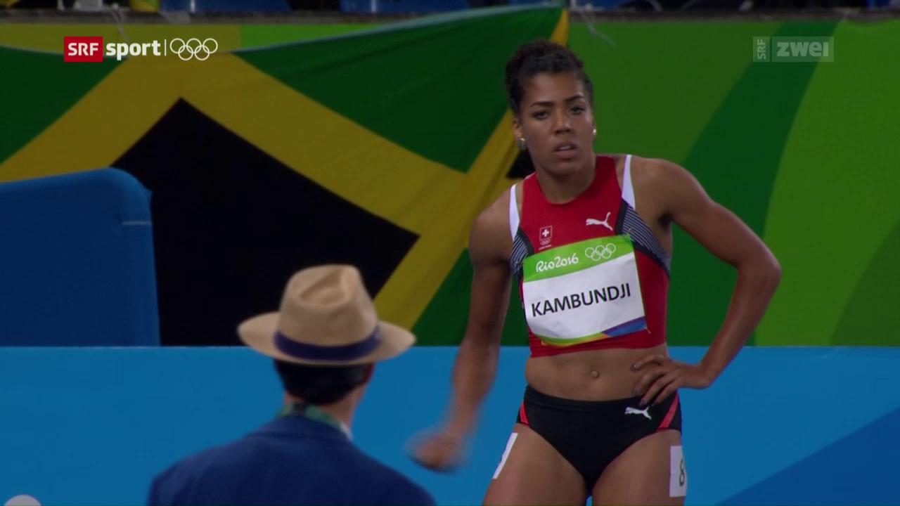 Die Leichtathletik-Entscheidungen und Kambundjis Out