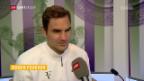 Video «Federer: «War am Anfang überraschend nervös»» abspielen