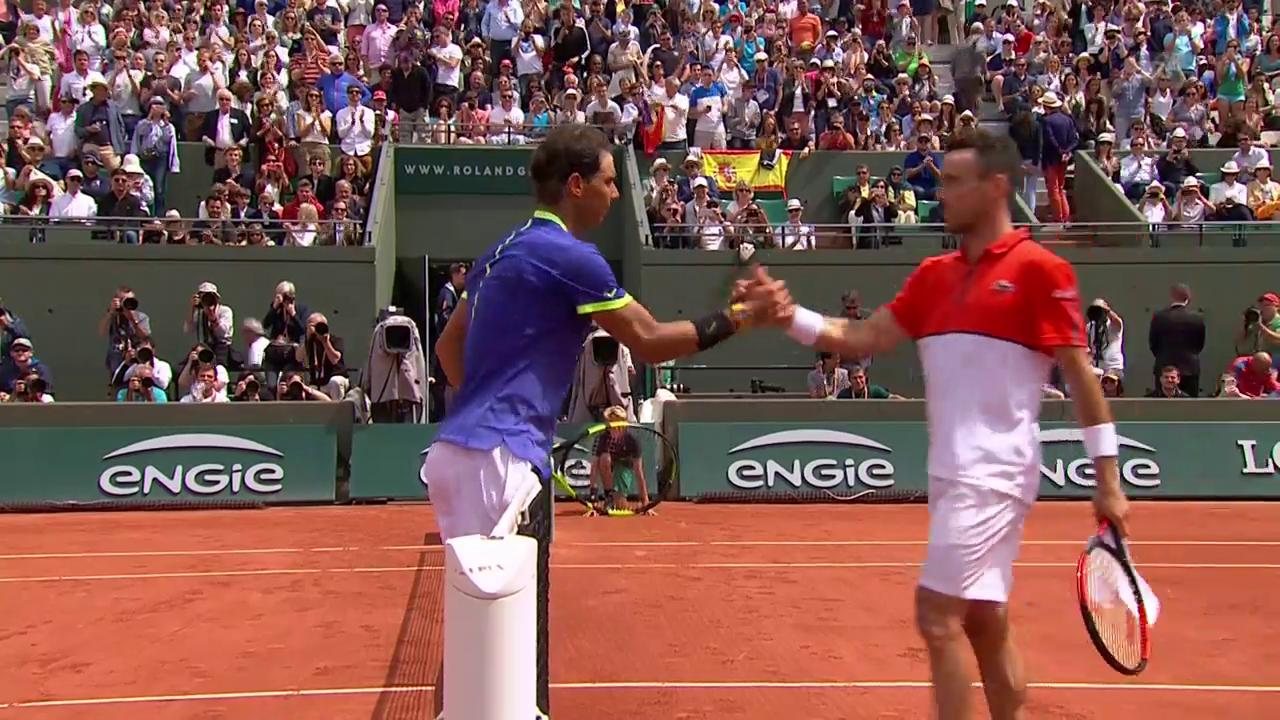 Nadal-Bautista Agut: Die wichtigsten Ballwechsel