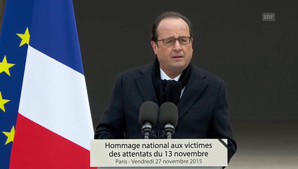 Hollande: «Wir ändern uns nicht – wir bleiben geeint»