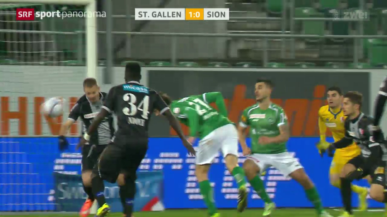 Fussball: Super League, St. Gallen - Sion