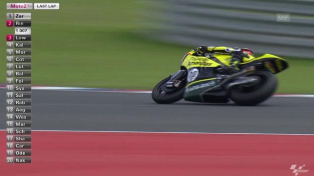 Video «Motorrad: GP Argentinien, Moto2, die letzte Runde» abspielen