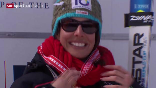 Video «Ski alpin: Schweizer Meisterschaften in St. Moritz» abspielen