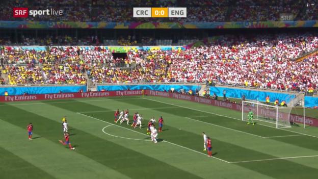 Video «Fussball: FIFA WM 2014, Spielbericht Costa Rica - England» abspielen