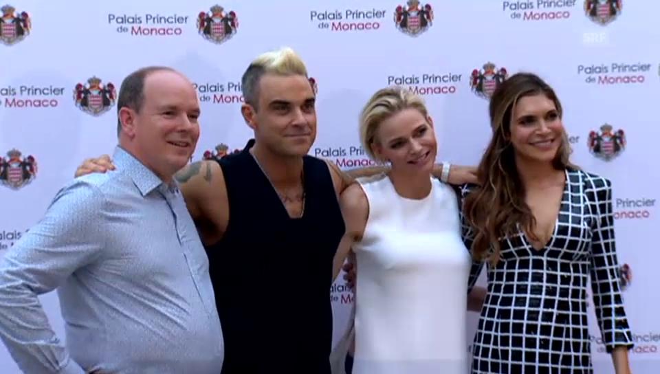 Charlène und Albert treffen Robbie Williams (unkomm.)